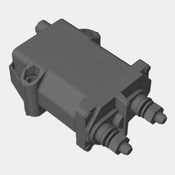 Heavy Duty Time Delay Bi-Stable Relay - 08070900 - 3D Model