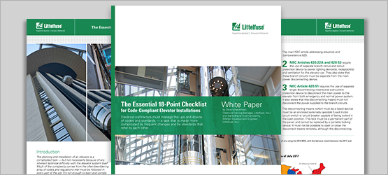 White Paper: The Essential 18-Point Checklist for Code-Compliant Elevator Installations