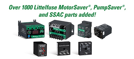 Littelfuse MotorSaver, PumpSaver, and SSAC Parts