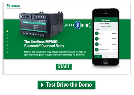 Demo the MP8000 Bluetooth Overload Relay App